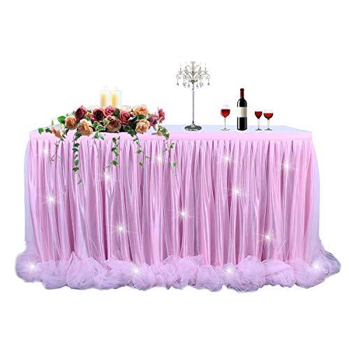 ertigte Tischdecke/Tischdeko Tutu Tischrock Für Party, Hochzeit, Geburtstag, Weihnachten, Festival, Carniva, Feier Tischdekoration(Rosa,183cm*76cm) ()
