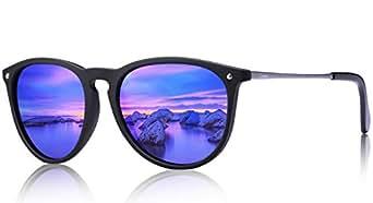 Carfia Vintage Polarisierte Damen Sonnenbrille Fahrer Brille 100% UV400 Schutz für Autofahren Reisen Golf Party und Freizeit - Ultraleicht Rahmen