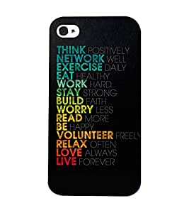 Mental Mind 3D Printed Plastic Back Cover For Iphone 4s - 3DIP4S-G500