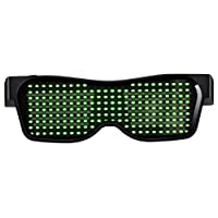 Party Magic Flash LED Glowing Glasses Bluetooth APP Control Eye wear Rechargeable Digital Party Shades For Birthday Party Events Festivals Concerts Weddings Dancing Great Gift