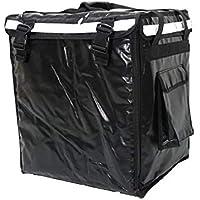 pk-66a: 16lx18wx12h aislamiento térmico entrega de comida mochila bolsa, 2capas, rígido marco, carga lateral, color negro