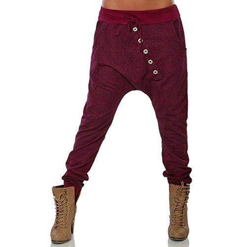 DOGZI Mujer Pantalones Tallas Grandes Botón Pies pequeños Pantalones Mujer Moda Hipsters Harén Pantalones Pololos Holgado Pantalones Vaquero Pantalones lápiz S~5XL