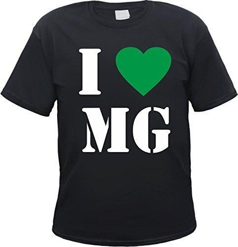 Mönchengladbach T-Shirt - I Love MG Schwarz