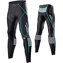 MEETWEE Cyclisme Pantalons Homme, Respirant 3D Gel Silicone Long Bike Compression Leggings Cycliste Pantalon de Vélo Pantalon
