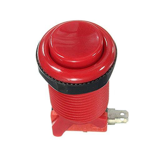 LaDicha 5V Arcade-Druckknopf-Langlebiger Langer Schalter Multicolor - Rot