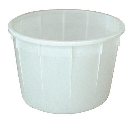 Rundbehälter 225 Liter, Außenmaße ØxH 860 x 550 mm, Polyethylen-Kunststoff (PE-HD), weiß