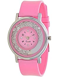Xforia Watches for Ladies Round Dial Pink Analog Watch Fashion Low Price For Girls & Women