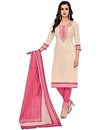 Miraan Women's Cotton Dress Material Dress Material (Sg1006_Pink_Free Size)