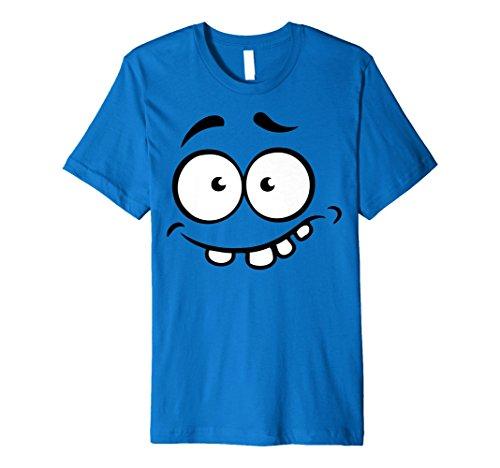 (Emoji-Halloween Shirt Kostüm Angst Zähne Out Monster Shirt)