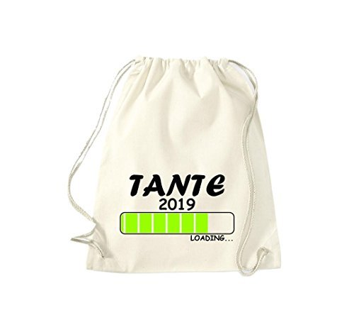 ShirtInStyle Gym Sack Turnbeutel Loading TANTE 2019 Natur