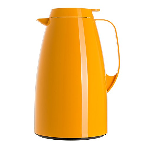 Emsa 508363 Isolierkanne, Thermoskanne, 1,5l Füllvolumen, Kaffeekanne, Quick Tip Verschluss, Basic in orange (8 Kaffeekanne Herr)