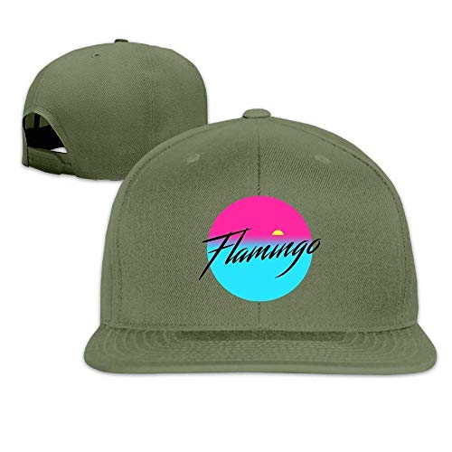 Fsrkje Flamingo Hip Hop Baseball Cap Adjustable Flat Brim Hat Outdr Sport Baseball Hat Unisex R798