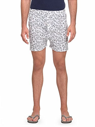 TSX Men's Printed Boxers BOXR-A-XL_White-X-Large