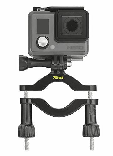 Trust Urban Lenkstangenbefestigung (geeignet für GoPro/weitere Aktionkamera (Sony, JVC, Rollei, Contour, Drift)) schwarz (Contour Bar Mount)