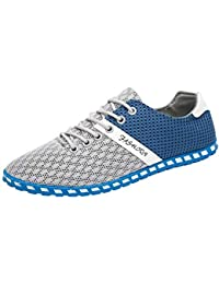 Hombres Zapatillas Zapatos,Casual Cómodas Zapatillas Respirables de Malla Hombre Zapatos Deporte Planos Hombre por Venmo