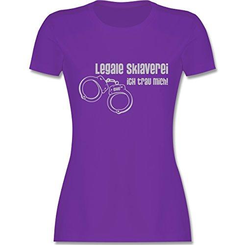 JGA Junggesellinnenabschied - Legale Sklaverei - Ich traue mich - tailliertes Premium T-Shirt mit Rundhalsausschnitt für Damen Lila