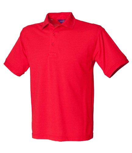 HenburyHerren Poloshirt Rot