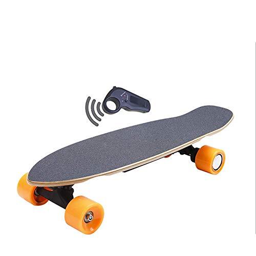 YUN GAME@ Kleine Fischplatte 70cm (700mm) Elektrisches Skateboard 15km / h 250W Naben-Motor 7cm Räder Haltbares Leichtgewicht (Super 7 Pendel)