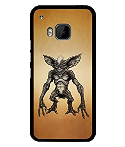 PrintVisa Designer Back Case Cover for HTC One M9 :: HTC One M9S :: HTC M9 (Black Gremlin Horror Halloween Defend Fairy Beautiful Tale)