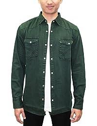 Southbay Men's Green Denim Full Sleeve Solid Shirt Cum Jacket