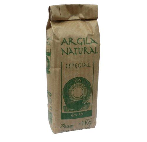 Argila Natural Em Pó - Französische Grüne Tonerde - Pulver für Masken und Peelings - 100 % natürlich - 1 kg (1 kg) -