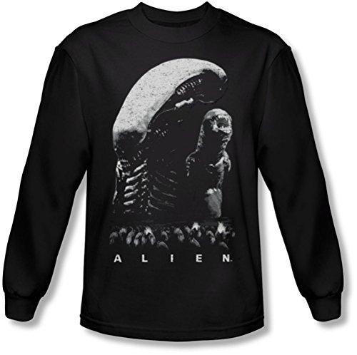 Alien - Herren-Entwicklung Longsleeve T-Shirt Black