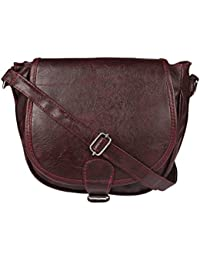 Style Loft Leather Brown Sling Bag Cross Body For Women & Girls(SL-024)
