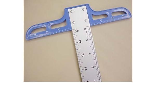"""Lance 12/"""" Aluminum T-Square 12/"""" X 1-1//2/"""" Ruler 9/"""" Plastic Head"""