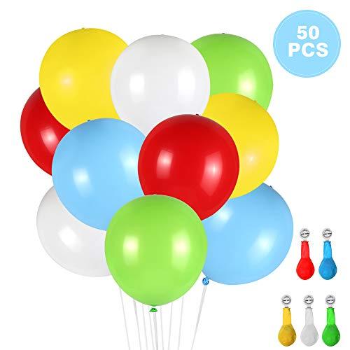 (Thinkcase Leuchtende Luftballons 50 Stück 5 Farben Blinken Bunt LED Ballons für Hochzeit Weihnachten Geburtstag Luftballon Party Deko)