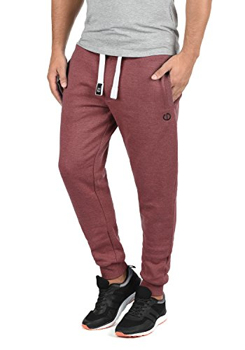 SOLID Benn Herren Jogginghose Sweatpants Sporthose mit kuscheliger Fleece-Innenseite aus hochwertiger Baumwollmischung Meliert, Größe:L, Farbe:Wine Red Melange (8985)