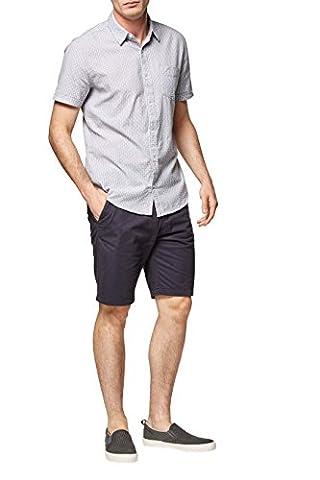 next Herren Strukturiertes Hemd mit kurzen Aermeln Regular M Grau