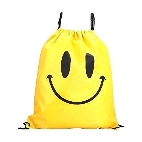 Vinciann , Damen Rucksackhandtasche Bolle Blu Smiley Giallo