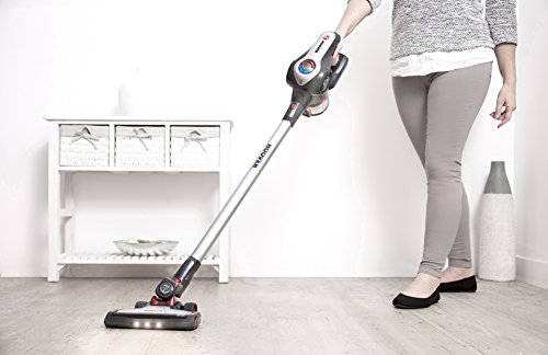 Hoover DS22G Discovery Lithium 2 in 1 Cordless Stick Vacuum Cleaner, 0.7 Litre, Titanium/Red