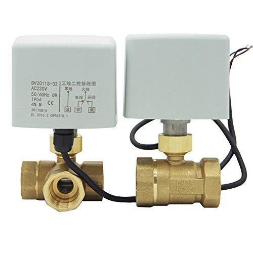 torkugelhahn 230v kugelventil elektrisch zonenventil ventil elektrisch 1/2 3/4 1 zoll (L Ventil, 1 zoll DN25) ()
