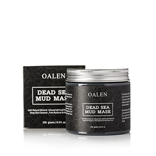 oalen barro del Mar Muerto Cara Máscara Mascarilla Facial Cuidado de piel–100% natural de acné tratamiento, minerales