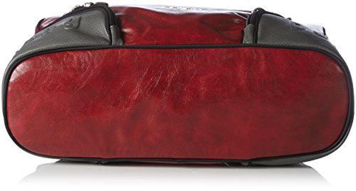 Poodlebag Amrum 3GC0815AMRUBB Unisex-Erwachsene Schultertaschen 42x30x14 cm (B x H x T) Mehrfarbig (red/grey)