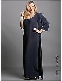 Edmond Boublil - Vêtement Femme Grande Taille Gilet Plisso Long Bleu