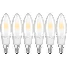 Osram LED Retrofit Full Glass Classic B Dim E14 Bli, 40 W, Smerigliata, Confezione da 6, 6 unità