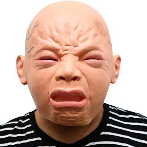 S+S Halloween Lustige Maske, Lustige Baby Wütend Traurig Schreiende Maske Kostüm Party Latex Schreiende Baby Latex Kopf Maske Dressing Ball Kostüm Requisiten