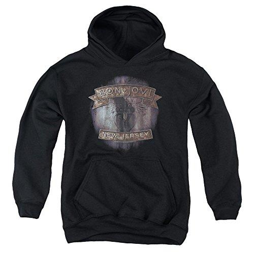Unbekannt Bon Jovi - - Jugend New Jersey Hoodie, X-Large, Black - New Jersey-kinder Sweatshirt