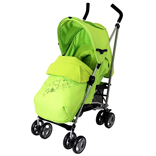 Zeta Vooom Complete – Lime With H&S Footmuff And Head Support