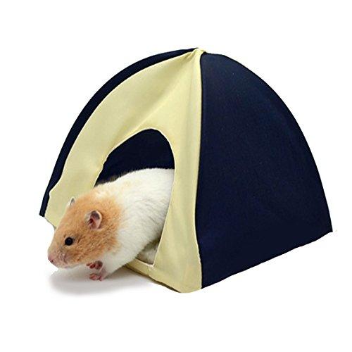 BSTWLKJ Pet Faltbare Zelt Haus mit abnehmbarem Bett für Zwerg Hamster