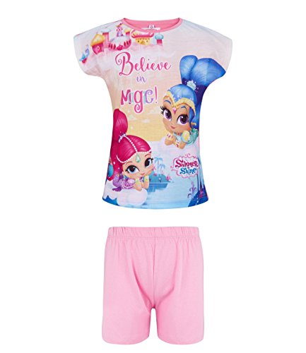 Shimmer and Shine Girls Short Sleeve Pyjama - Pink
