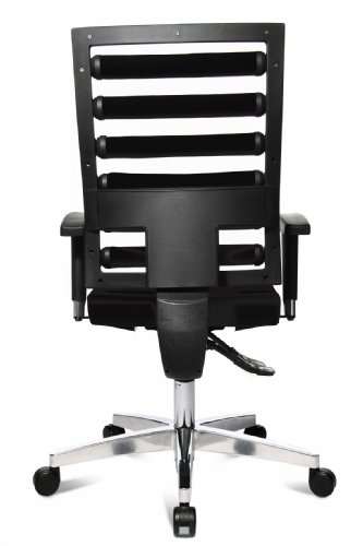 Topstar WO9TT200 Bürodrehstuhl Workout inklusive höhenverstellbare Armlehnen / Bezugstoff schwarz - 5