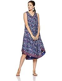 BIBA Women's Cotton A-Line Dress