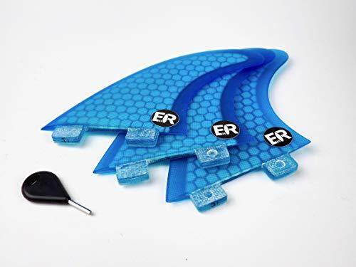 Eisbach Riders FCS Surfboard Honeycomb Fins (Blau)