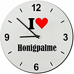 """Exklusive Geschenkidee: Glasuhr """"I Love Honigpalme"""" eine tolle Geschenkidee die von Herzen kommt- Uhr- Weihnachts Geschenktipp"""