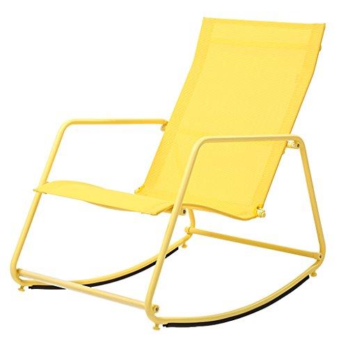 YLLXX Chaise Facile Chaise Berçante Nordique Adulte Déjeuner Intérieur Pause Moderne Simple Salon Paresseux Chaise Balcon Salon Sieste Chaise Berçante (55 * 80 * 78Cm)