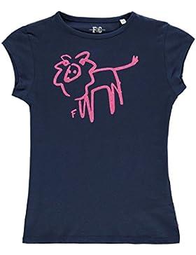 French Connection Bambina Leone Glitterato T Shirt Girocollo Cotone Maglietta