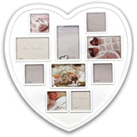 f73d156a546 New White Hanging Heart Shaped Large Photo Frame Multi Picture Love Frames  Gift Shopmonk